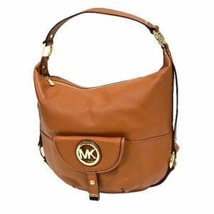 Michael Kors Authentic Brown Fulton Shoulder Bag